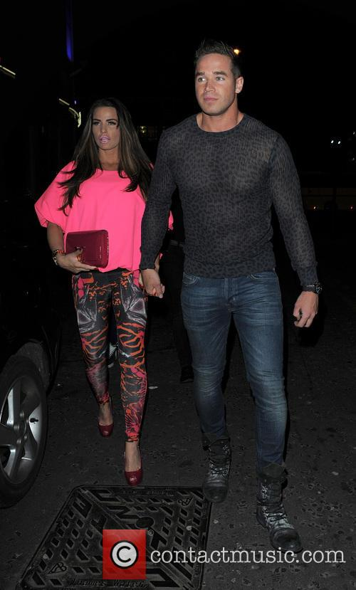 Katie Price and husband Kieran Hayler enjoy a night out at Club Aquarium in Shoreditch