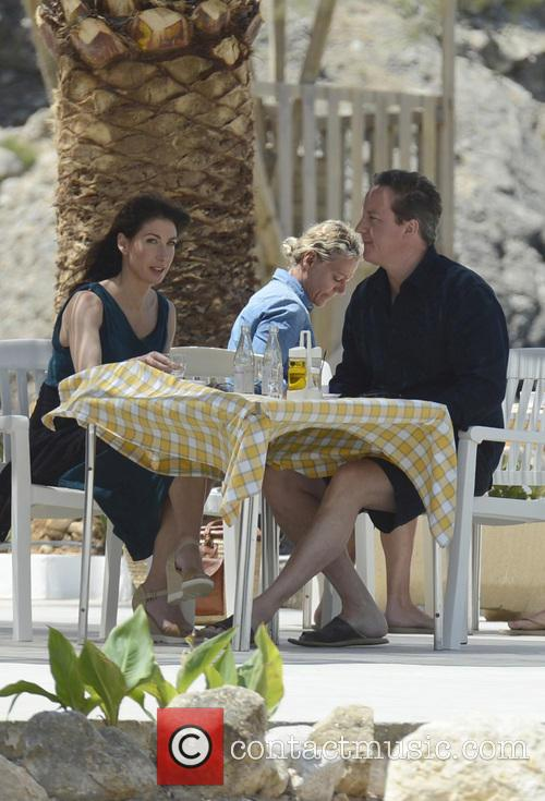 David and Samantha Cameron in Ibiza