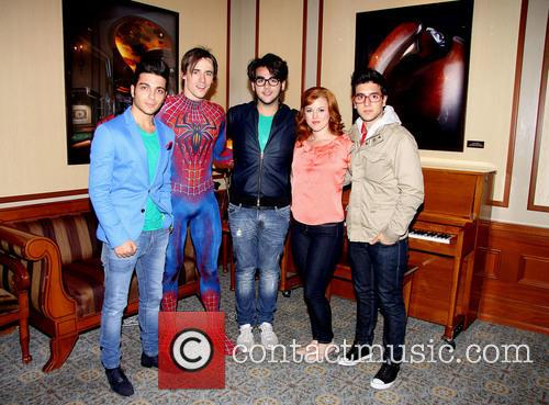 Il Volo Visits 'Spider-Man Turn Off The Dark'...