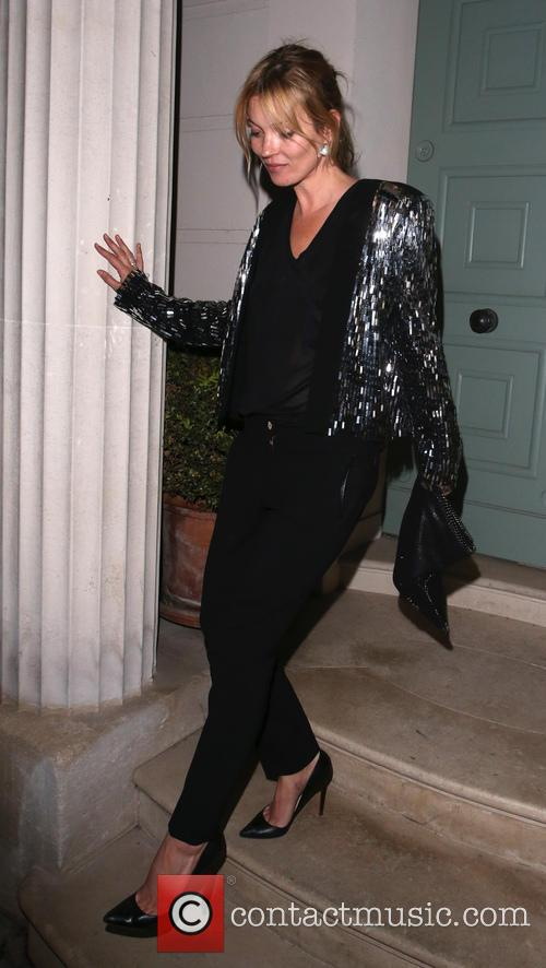 Kate Moss leaving a private residence in Chelsea at 3:15 a.m