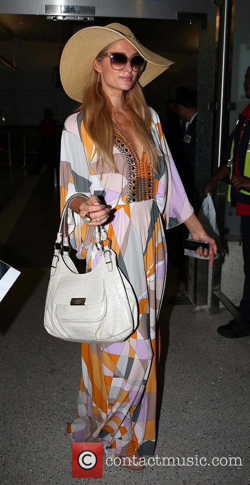 Paris Hilton and boyfriend River Viiperi arrive at...