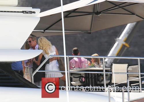 Victoria Silvstedt onboard 'The Lionheart'