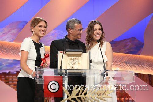 Abdellatif Kechiche, Lea Seydoux and Adele Exarchopoulos 2