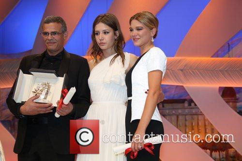 Abdellatif Kechiche, Lea Seydoux and Adele Exarchopoulos 4