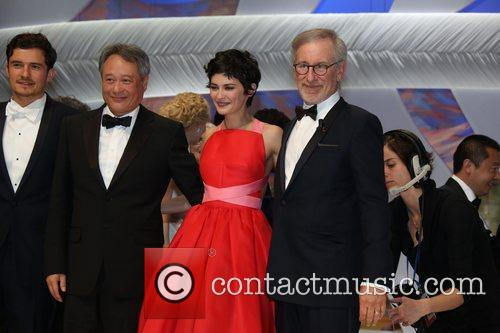 Orlando Bloom, Ang Lee, Audrey Tautou and Steven Spielberg 2