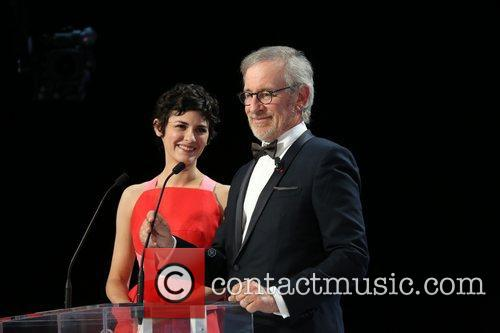Steven Spielberg and Audrey Tautou 1
