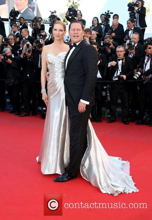 Uma Thurman and Arpad Busson 8