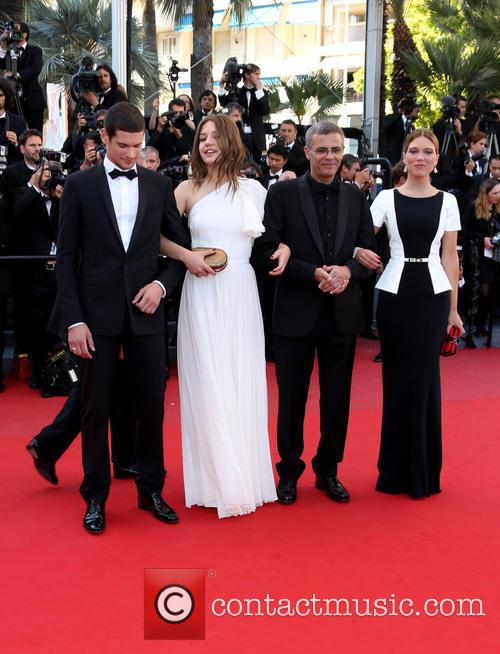 Lea Seydoux, Abdellatif Kechiche and Adele Exarchopoulos 3