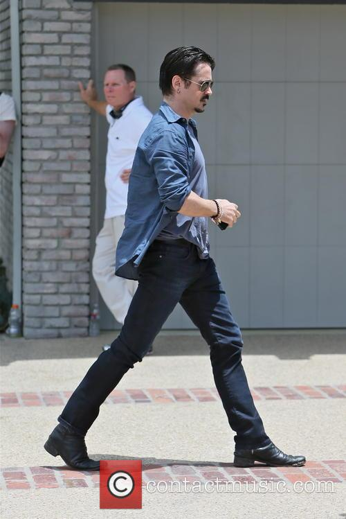 colin farrell celebrities arriving at joel silvers 3690009