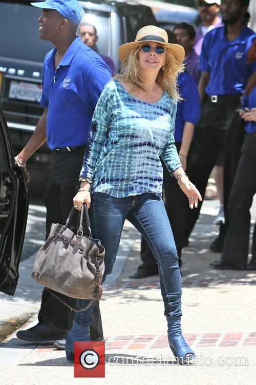 rosanna arquette celebrities arriving at joel silvers 3690006