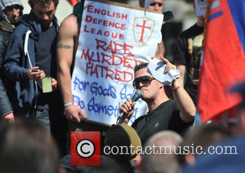 English Defence League hold a demonstration