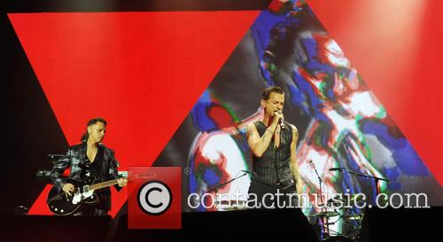 Dave Gahan and Martin Gore live at the O2 Arena, London