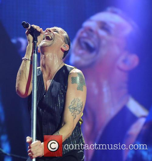 Dave Gahan of Depeche Mode live at the O2 Arena, London