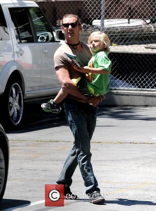 Gavin Rossdale collects Zuma from school
