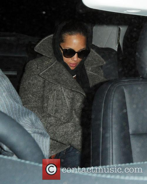 Alicia Keys At Her Hotel