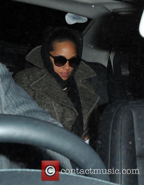 Alicia Keys At Her Hotel