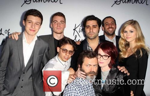 Moises Arias, Gabriel Basso, Nick Robinson, Chris Galletta, Jordan Vogt-roberts, Erin Moriarty and Megan Mullally 3