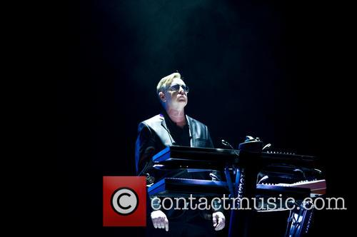 Andrew Fletcher of Depeche Mode live at the O2 Arena, London