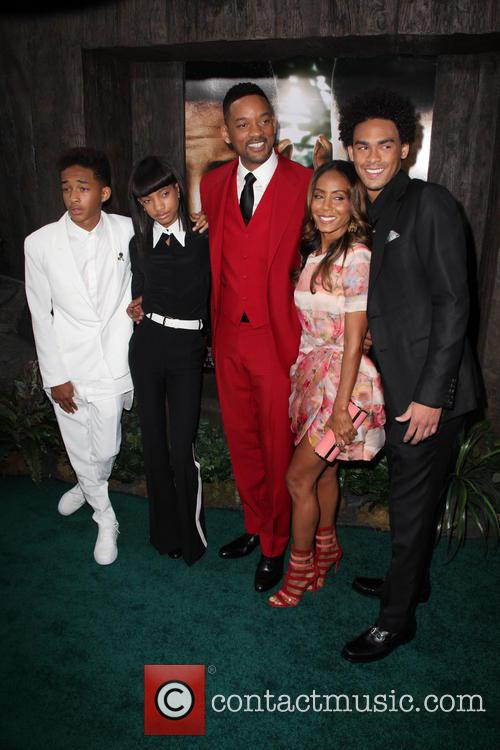 Will Smith and family at 'After Earth' New York premiere