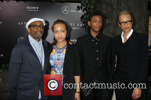 Spike Lee, Tonya Lewis Lee, Satchel Lee and Jackson Lee 2