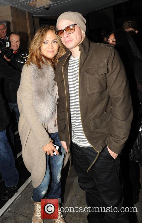 Jennifer Lopez arrives at The Dorchester hotel