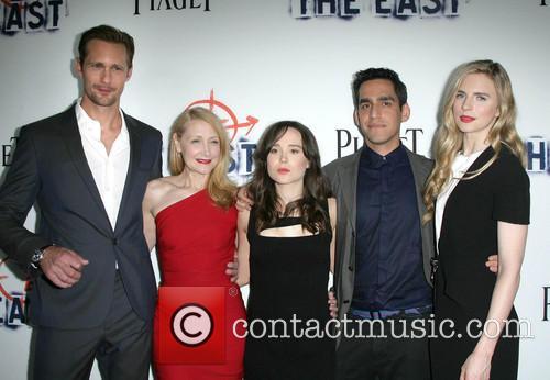 Alexander Skarsgard, Patricia Clarkson, Ellen Page, Director Zal Batmanglij and Brit Marling 3