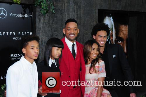 Jaden Smith, Willow Smith, Will Smith, Jada Pinkett Smith, Trey Smith, Ziegfeld Theatre