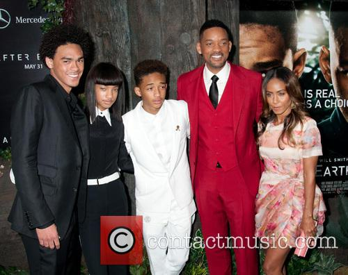 Trey Smith, Willow Smith, Jaden Smith, Will Smith and Jada Pinkett Smith 4