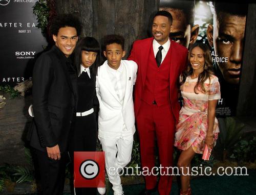 Trey Smith, Willow Smith, Jaden Smith, Will Smith and EARTH at Ziegfeld Theatre