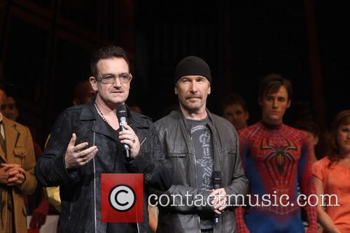 Bono, The Edge and Reeve Carney 2