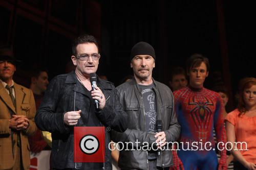Bono, The Edge and Reeve Carney 1