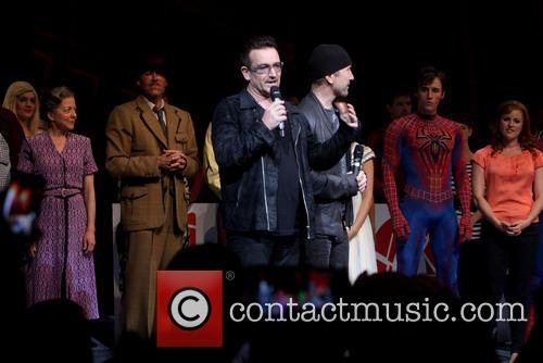 Isabel Keating, Bono, The Edge, Reeve Carney and Rebecca Faulkenberry 1