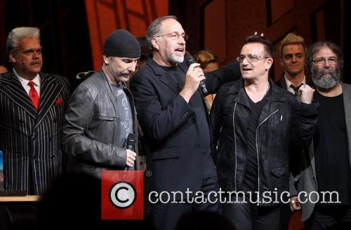 Michael Mulheren, The Edge, Philip William Mckinley, Bono and Michael Cohl