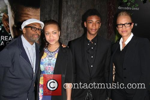 (l-r) Spike Lee, Jackson Lee, Satchel Lee and Tonya Lewis Lee 4