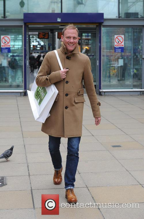Antony Cotton photocall at Manchester Piccadilly Train Station