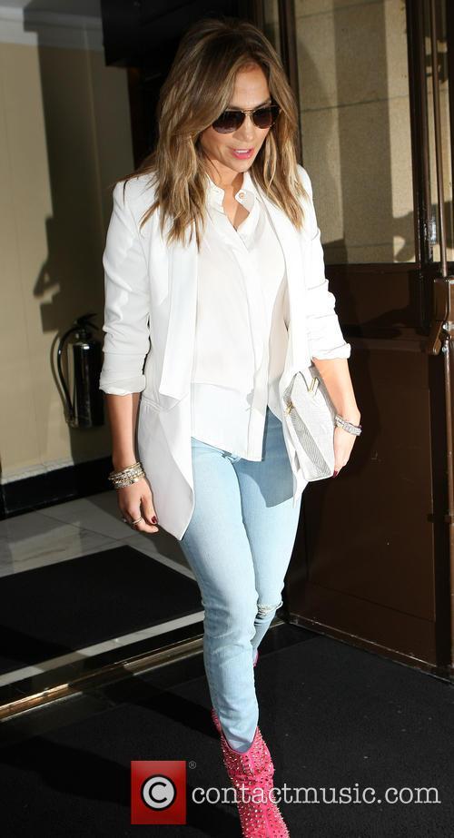 Jennifer Lopez seen leaving her Hotel