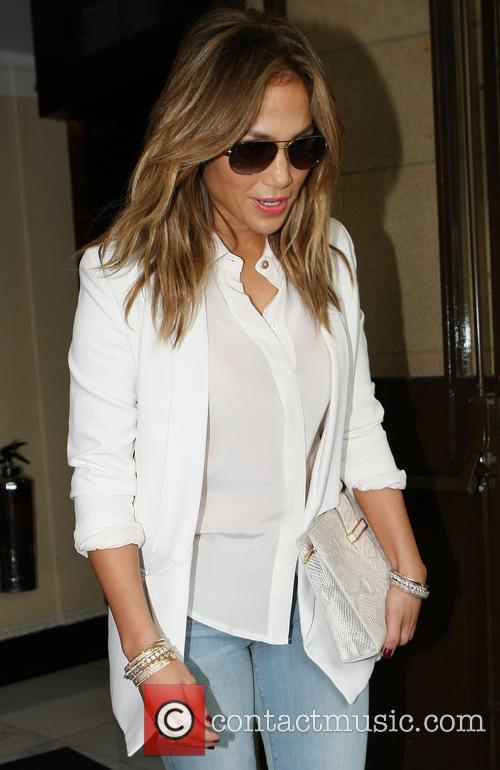 Jennifer Lopez seen leaving her Hotel
