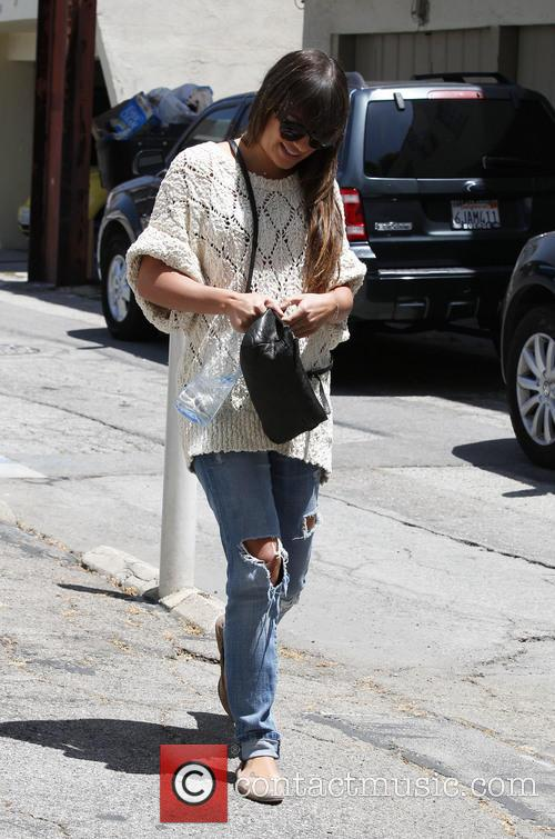 lea michele lea michele seen out and 3695004