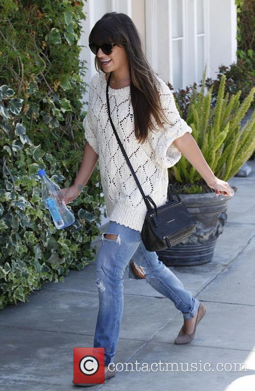 Lea Michele seen out and about
