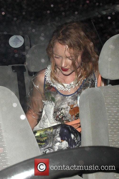 Lily Cole Leaving The Groucho Club