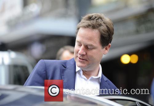 Nick Clegg leaving the LBC studios