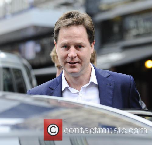 Nick Clegg leaving the LBC studios