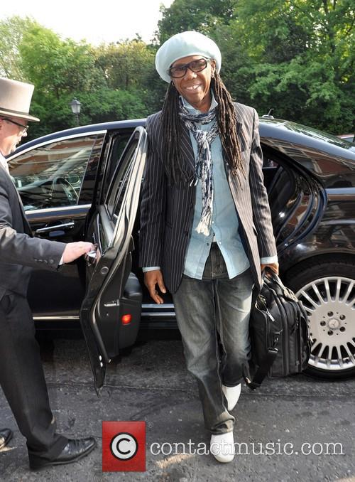 Nile Rogers arriving at the Shelbourne Hotel