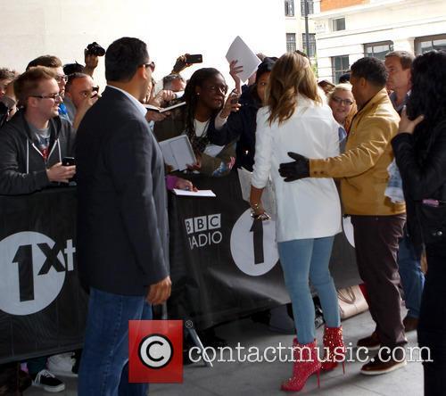 Jennifer Lopez arrives at BBC Radio 1