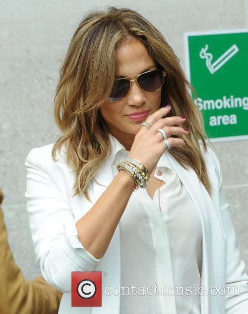 Jennifer Lopez at the BBC Radio 1 studios