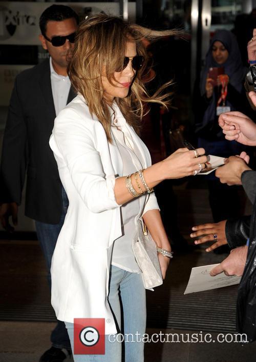 Jennifer Lopez arrives at BBC Radio 1 to...
