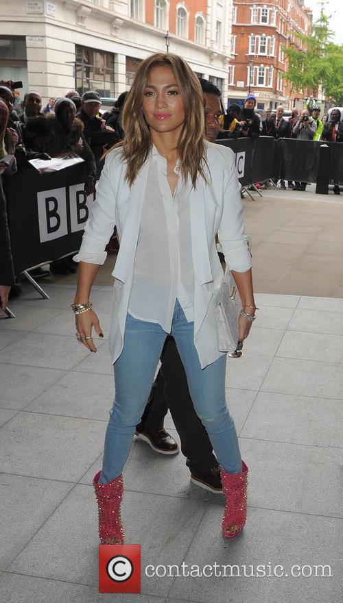 Jennifer Lopez leaving the Radio 1 studios