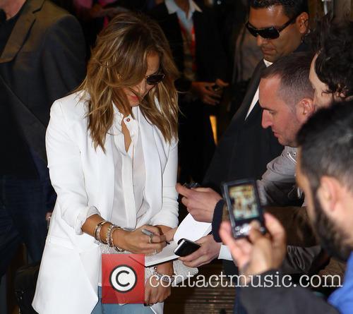 Lopez arrives radio 1 London