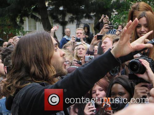 Jared Leto Busking in Soho