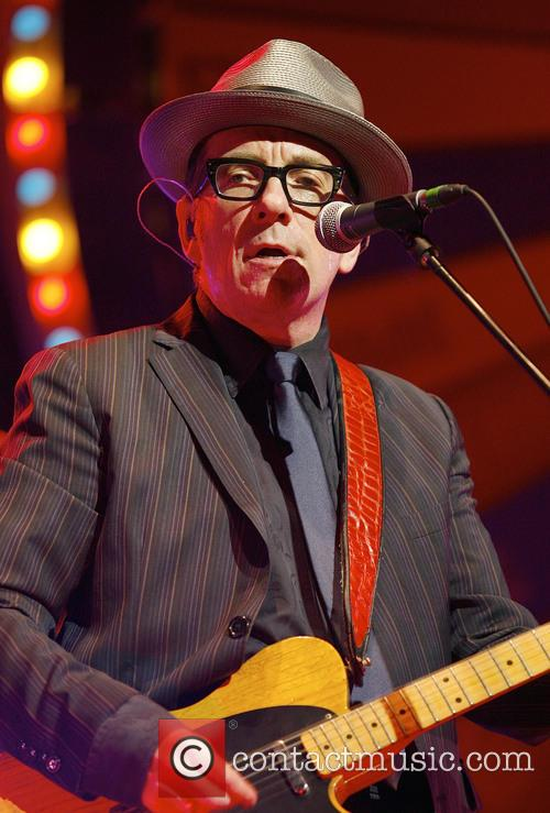 Elvis Costello performing at the Symphony Hall
